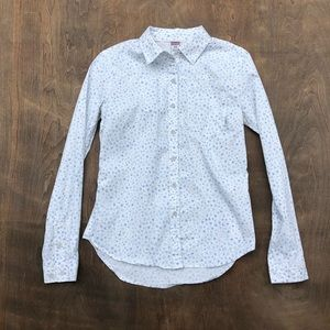 Stio Button Down floral too long sleeve S